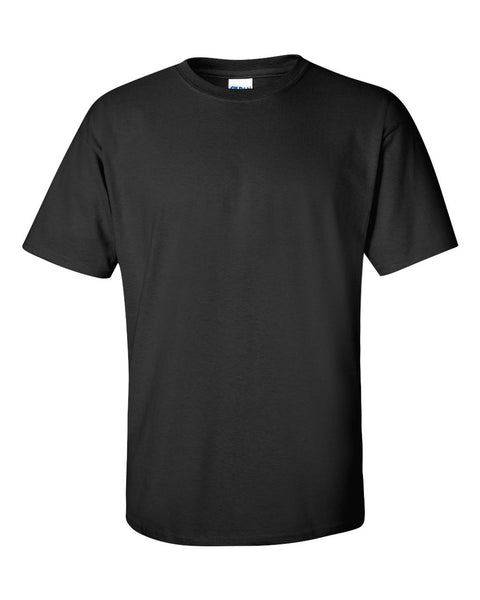 (BLANK) BLACK SHORT SLEEVE T-SHIRT (GILDAN 2000 ULTRA COTTON)