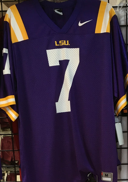new product d8503 1f75e NIKE LSU TIGERS (7 - NO NAME ON BACK) FOOTBALL JERSEY (SIZE ADULT MEDIUM)