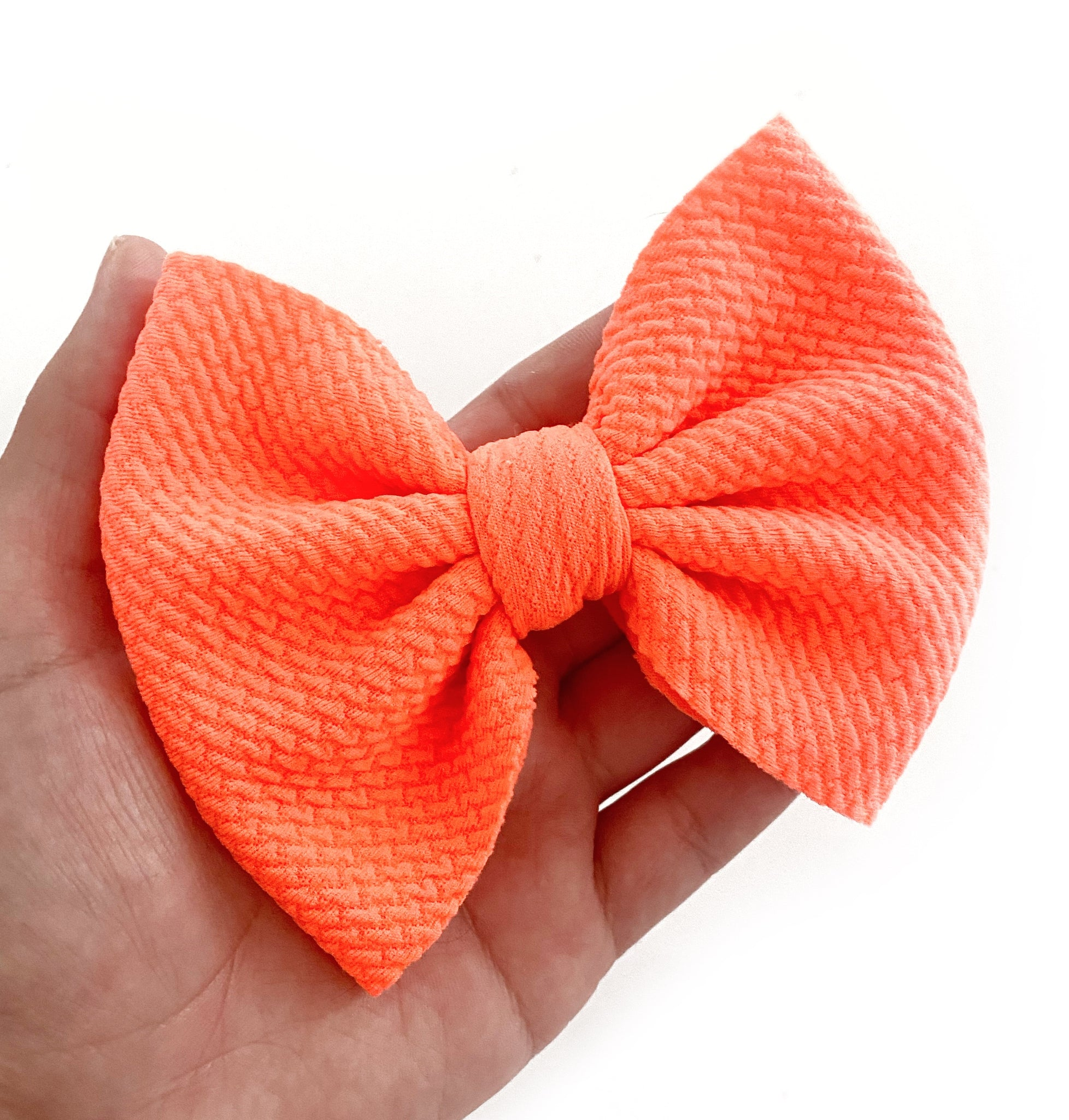 "Neon Coral 5"" Rose Bow"