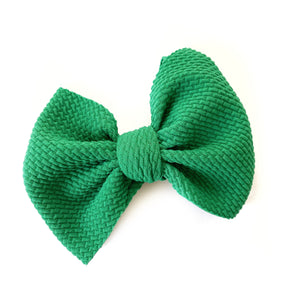 Green Rose Bow
