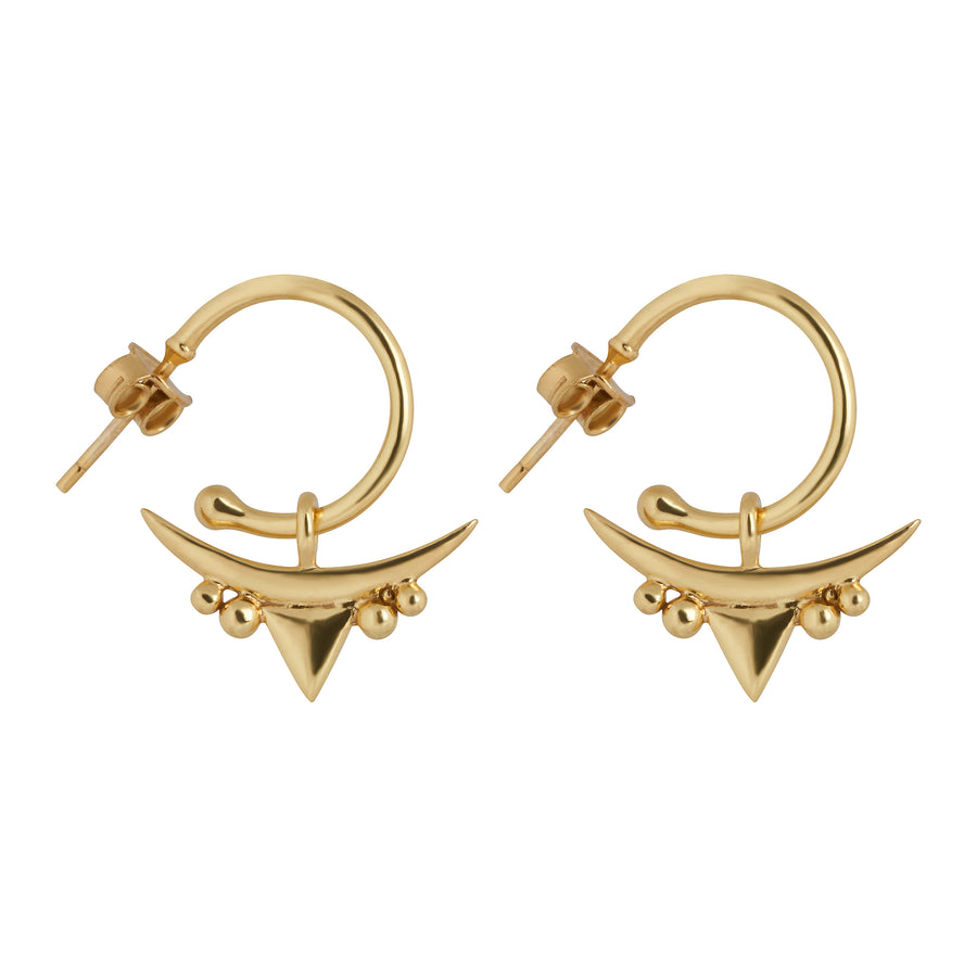 Aella Charm Earrings // Gold Vermeil