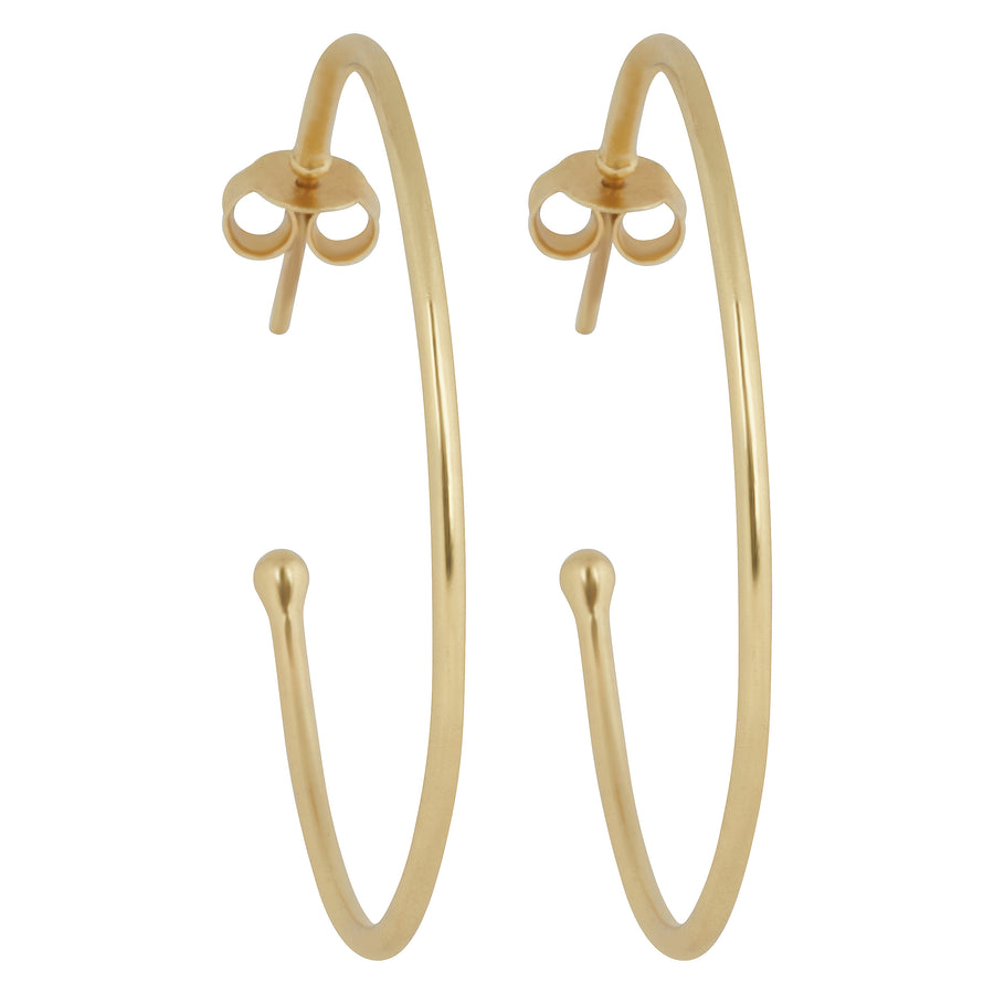 Large Post Back Hoops // Gold Vermeil