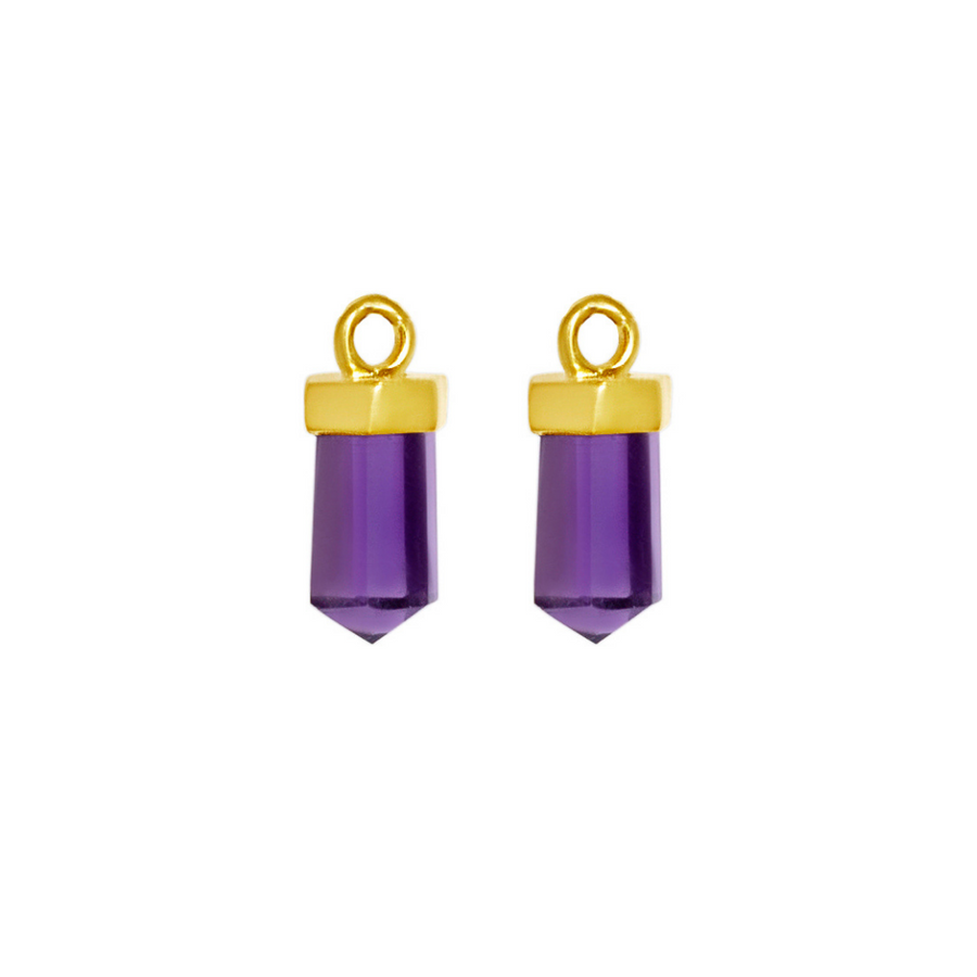 Amethyst Gold Charms