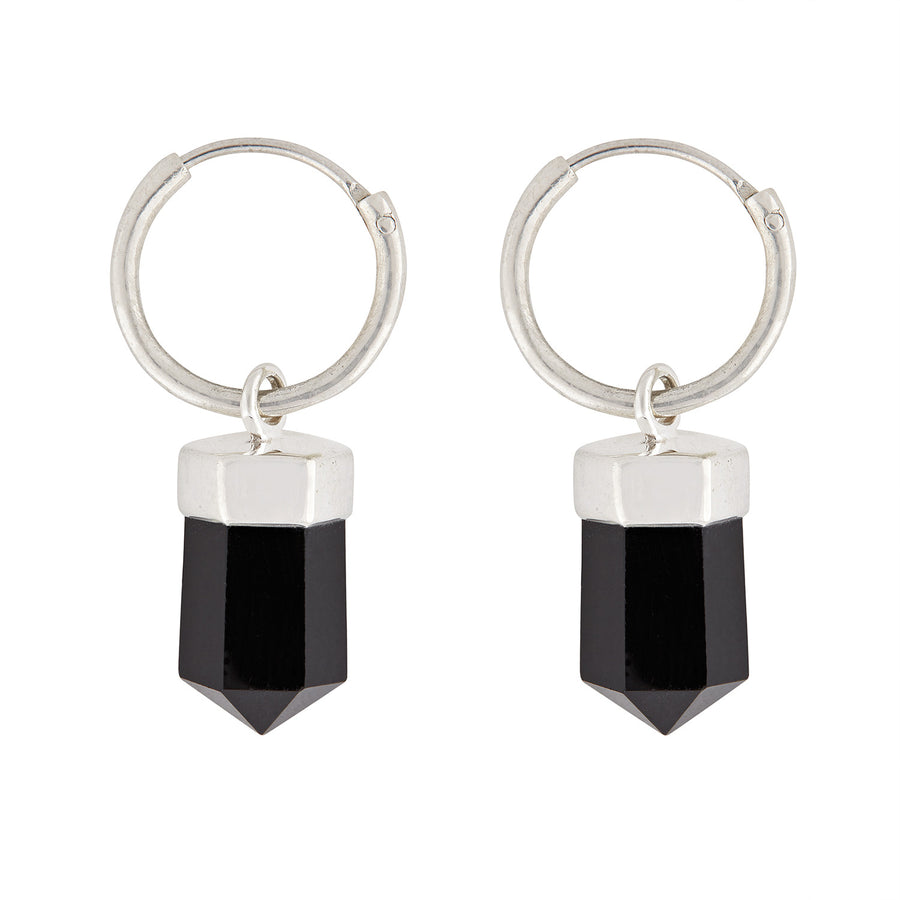 Rock 'n' Rolla Charmed Earrings // Small Hoop