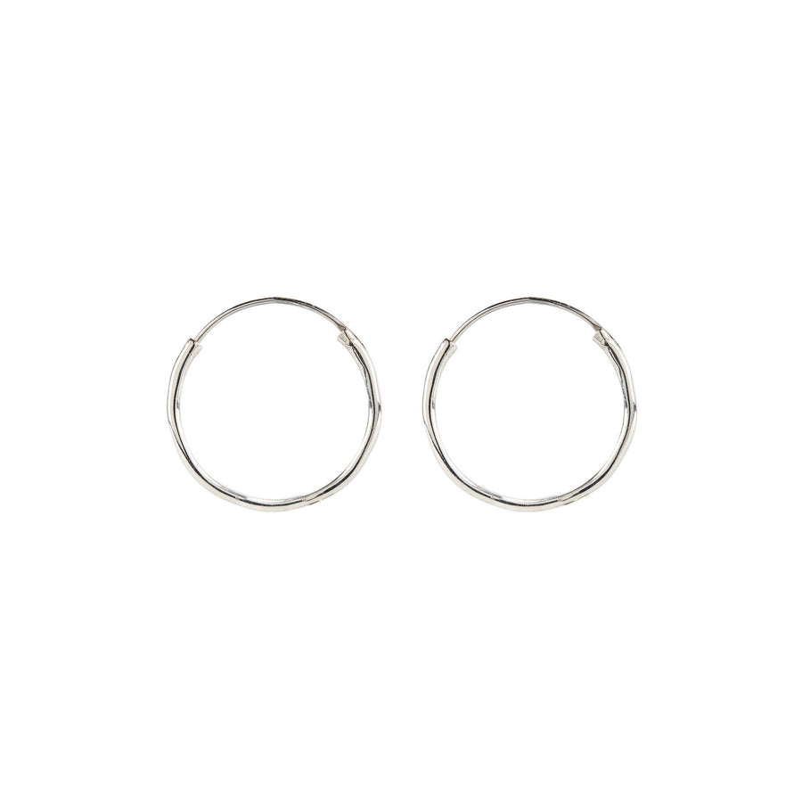 Medium Endless Hoop // Silver