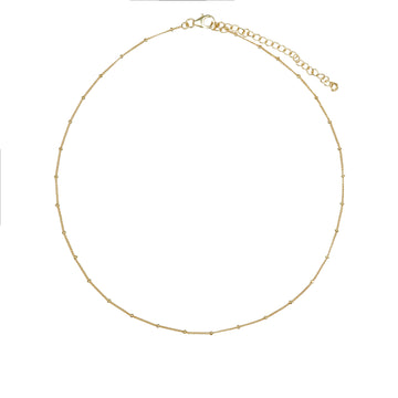 Gold Vermeil Ball Chain 18