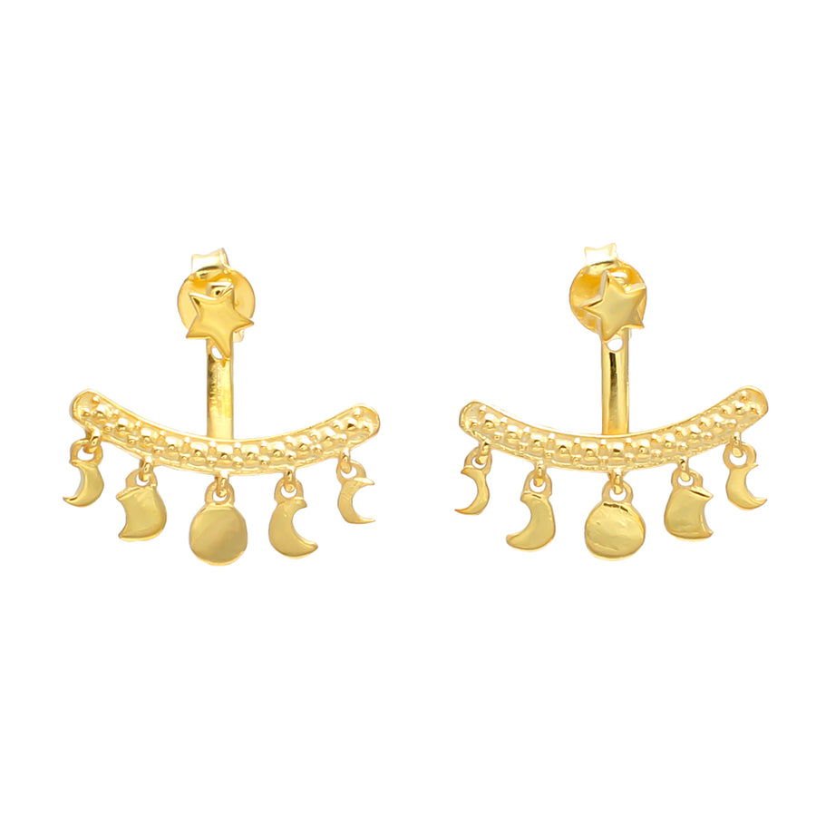 9ct Gold Vermeil Moon Phases Ear Jacket