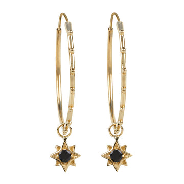 North Star Stud Hoops || Gold || Spinel