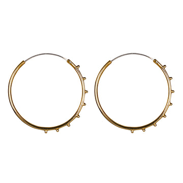 Stud Hoops Gold