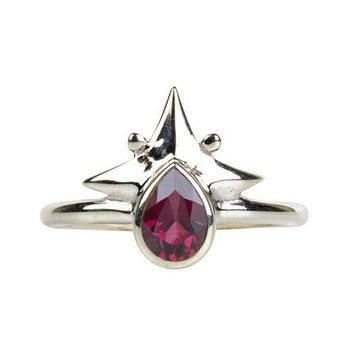 Little Star Ring || Silver & Rhodolite Garnet