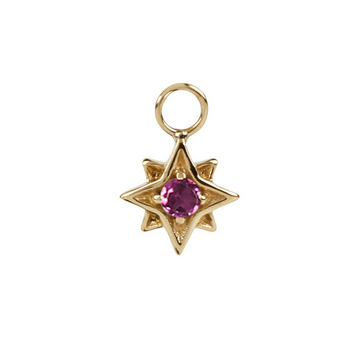 North Star Garnet in Gold Vermeil