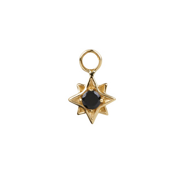 North Star Black Spinel in Gold Vermeil