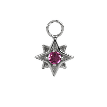 North Star Garnet in Silver