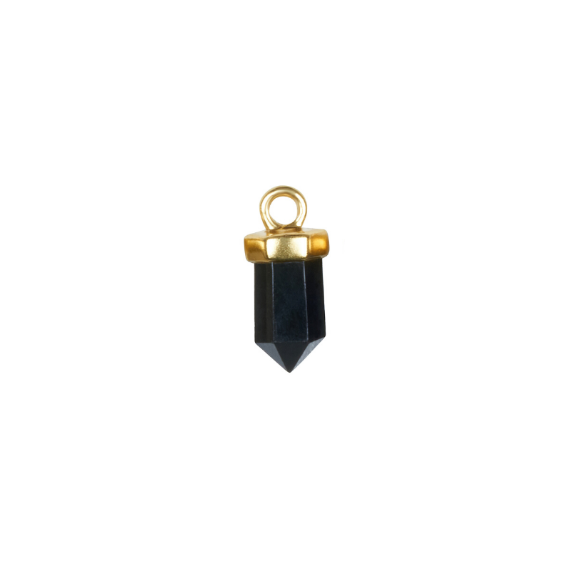 Black Onyx Gold Charms