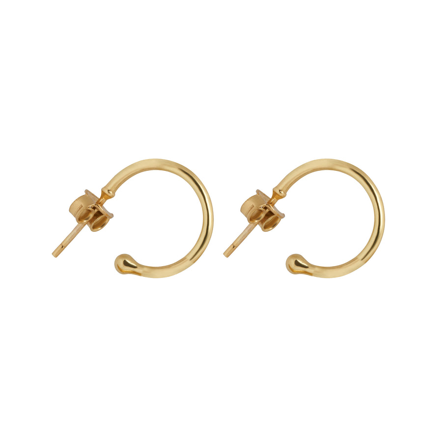 Small Post Back Hoops // Gold Vermeil