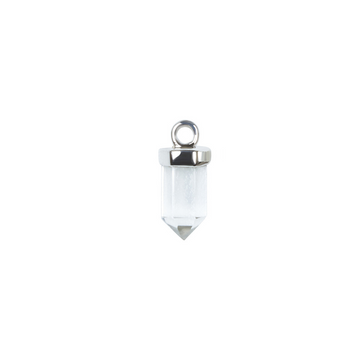 Clear Quartz Silver Charms