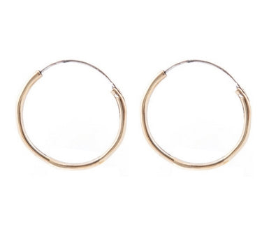 Medium Endless Hoop // Gold