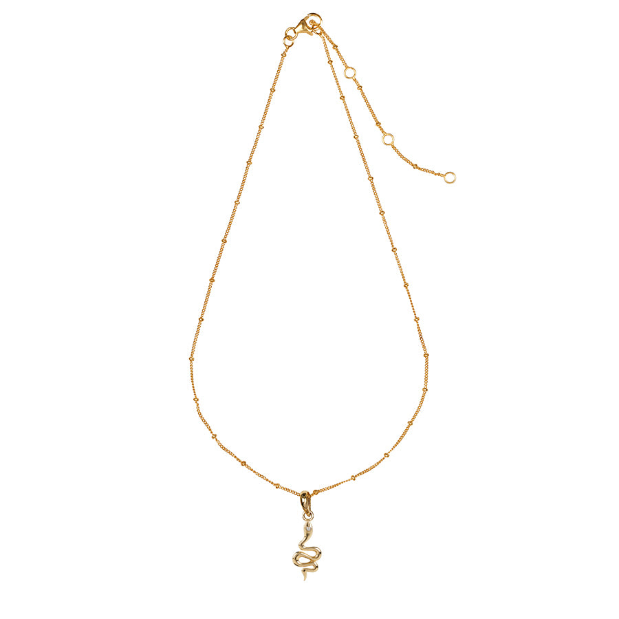 The Serpent Charm Necklace Gold