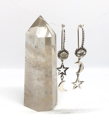 The Stellar Earrings // Clear Quartz