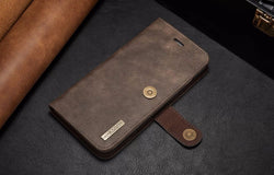 Luxury 2in1 Wallet Genuine Leather Phone Case For iPhone 6s 6s plus 7 Plus Detachable Cover Multi-function with Card Holder