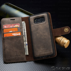 Galaxy S8 S8+ Plus Leather Removable Wallet Magnetic Flip Card Case Cover