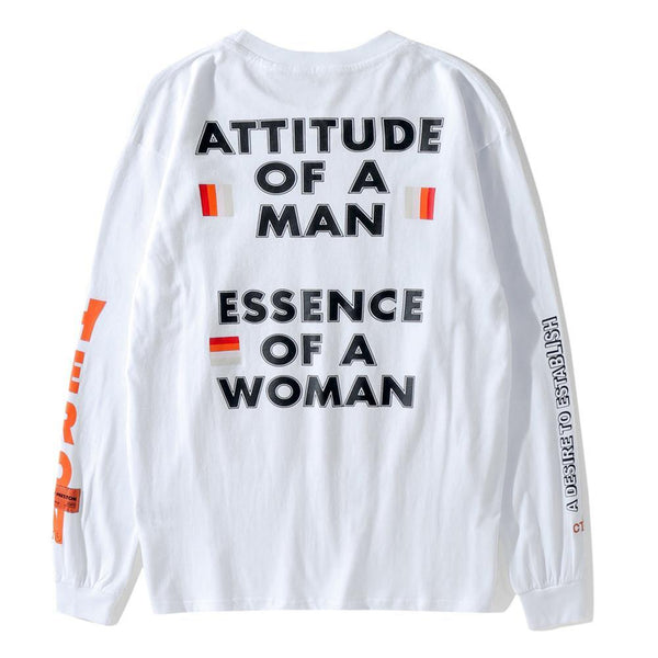 Attitude of a Men Essence of a Women! Long Sleeve T-shirt, Unisex Tee Heron Bird Shirt-TownTiger