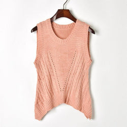 Back Hollow Out Tank! Solid Color Knitting Tank Tops, Women Tops Knitwear, Summer-TownTiger
