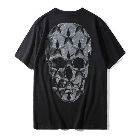 Big Flicker Skull! Short Sleeve T-shirt, Unisex Tees, Couple's T-shirt, Street Fashion Tee Shirt-TownTiger