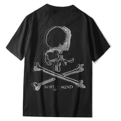 big Skull MaterMind!Short Sleeve T-shirt, Unisex Tees, Couple's T-shirt, Street Fashion Tee Shirt