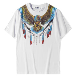 Blue Eagle! Short Sleeve T-shirt, Unisex Tees, Couple's T-shirt, Street Fashion Tee Shirt-TownTiger