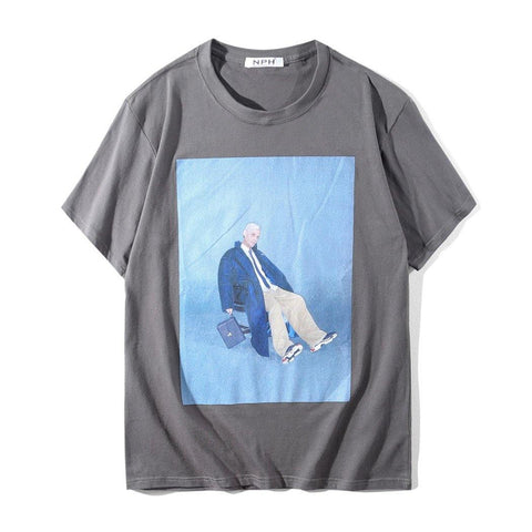 Blue Man! Short Sleeve T-shirt, Unisex Tees, Couple's T-shirt, Street Fashion Tee-TownTiger