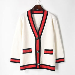 Cardigan! Long Sleeve Knitting Tops, Women Tops Knitwear, Gucci-Classic Knits-TownTiger