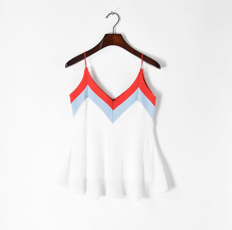 Chevron! Knitting Tank Tops, Halter Tops Women Tops, Girl's Knitwear, Summer Knit-TownTiger