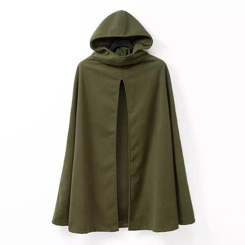 Cloak! Green or Black Hooded Cloak Tops, Women Hoodie Outfit Garment Sweatshirt Windbreaker-TownTiger