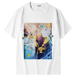 Cosmos Series Gu! Short Sleeve T-shirt, Unisex Tees, Couple's T-shirt, Street Fashion Tee Shirt