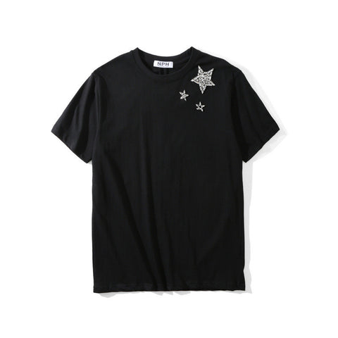 Diamond Stars!Short Sleeve T-shirt, Unisex Tees, Couple's T-shirt, Street Fashion Tee-TownTiger