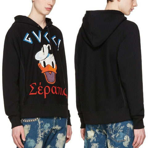 Donald Duck Unisex Warm Hoodie Sweatshirt Sweater Tee Gucci Appliqu