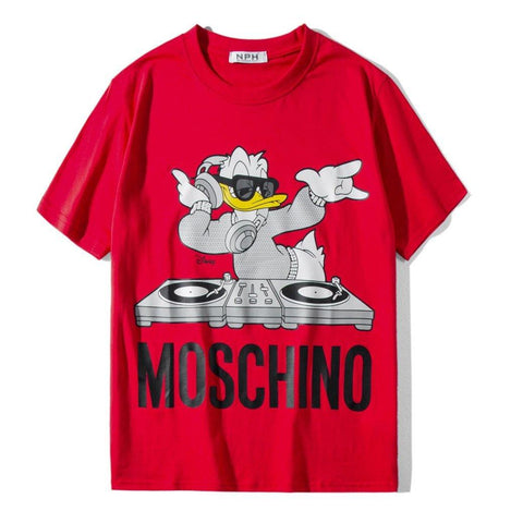 Duck DJ Mos x Disney! Short Sleeve T-shirt, Unisex Tees, Couple's T-shirt, Street Fashion Tee Shirt-TownTiger