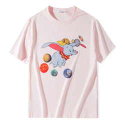 Dumbo Planet!Short Sleeve T-shirt, Unisex Tees, Couple's T-shirt, Street Fashion Tee Shirt-TownTiger