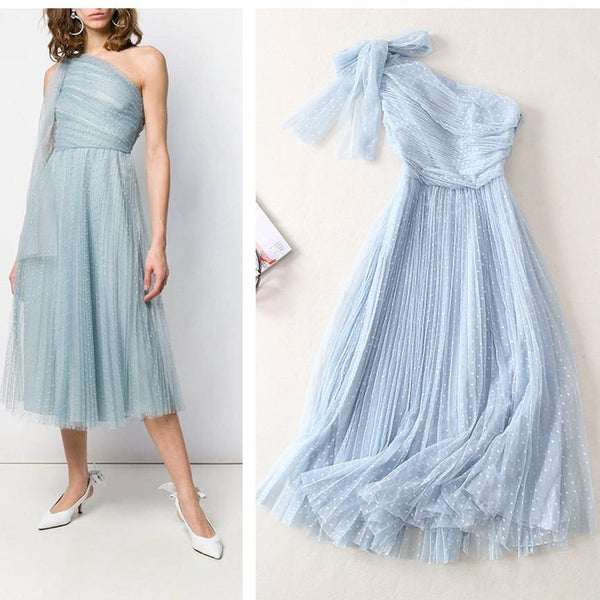 Fairy! Elegant Sleeveless Organza Mesh Dress , Women Tulle Dresses, Bridesmaid Dress, Event Dress 2019-TownTiger
