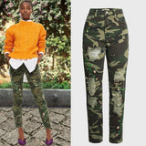 Floral Camouflage Jeans! Denim, Bottoms, Women Ripped Jeans, Femme Bottoms, Pants-TownTiger