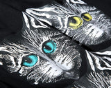 Four Cats!Short Sleeve T-shirt, Unisex Tees, Couple's T-shirt, Street Fashion Tee-TownTiger