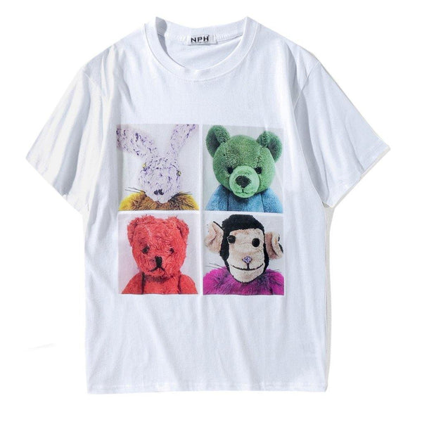 Furry Animals! Short Sleeve T-shirt, Unisex Tees, Couple's T-shirt, Street Fashion Tee-TownTiger