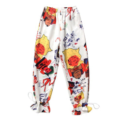 Graffiti! Loose Fitting Printed Pants for Women, Street Fashion Pants-TownTiger