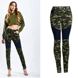 Green Camou! Camouflage Jeans, Skinny Denim, Motorcycle Jeans, Femme Bottoms, Pants-TownTiger