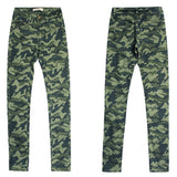Green Camouflage!Skinny Pants, Denim, Bottoms, Women Jeans, Femme Bottoms, Trousers-TownTiger