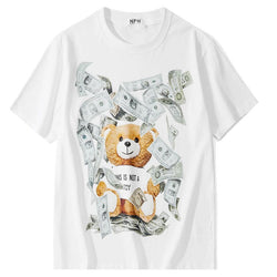 Green Notes bear! Short Sleeve T-shirt, Unisex Tees, Couple's T-shirt, Street Fashion Tee Shirt