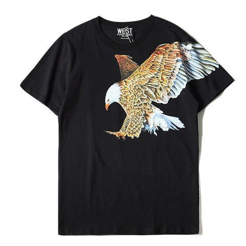 Hawk! Short Sleeve T-shirt, Unisex Tees, Couple's T-shirt, Street Fashion Tee-TownTiger
