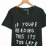 If you are reading this!Short Sleeve T-shirt, Women Tops, Girl's T-shirt, Tee-TownTiger