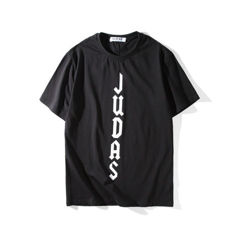 Judas!Short Sleeve T-shirt, Unisex Tees, Couple's T-shirt, Street Fashion Tee-TownTiger